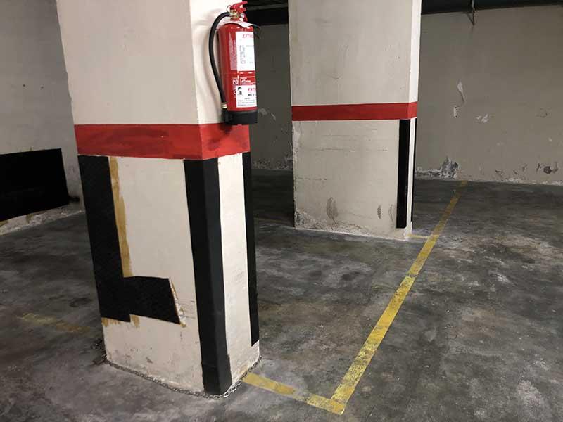 pintura de parking