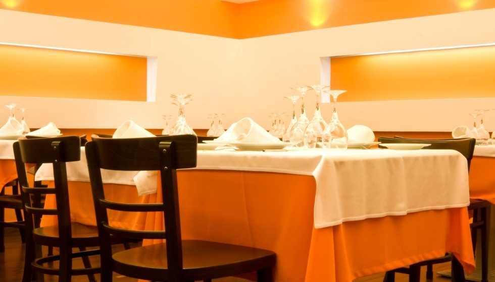 Color naranja restaurant