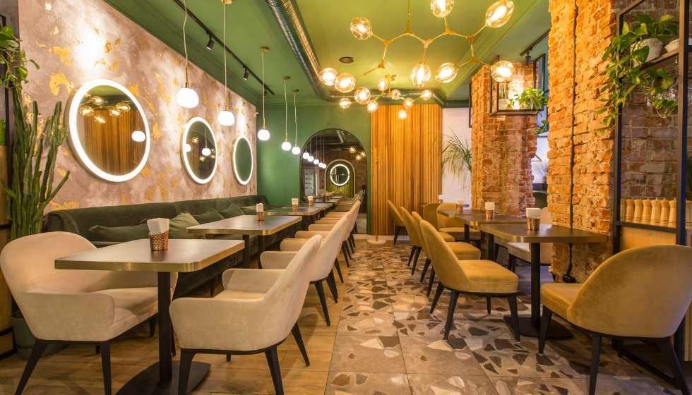 Color verde restaurante